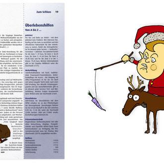 """""""weihnachtswichtel"""" Illustration für Teamtime © Stefan Hoch"""