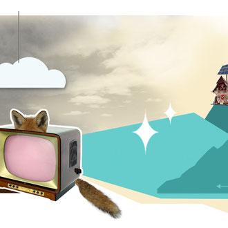 """""""Fox TV Halbwissen"""" Illustration für das Kompakt-Magazin der IG BCE © Stefan Hoch"""