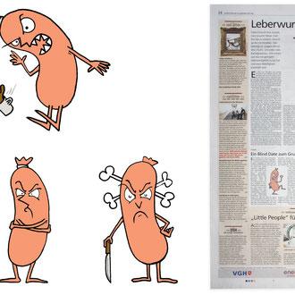 """""""Beleidigt"""" Illustration für die Hannoversche Allgemeine Zeitung © Stefan Hoch"""