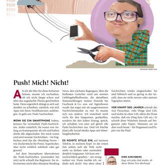"""""""Push-Nachrichten"""" für das Kompakt-Magazin der IG BCE © Stefan Hoch"""