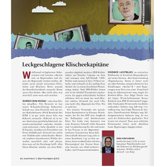 """Quote"" Illustration für das Kompakt-Magazin der IG BCE © Stefan Hoch"