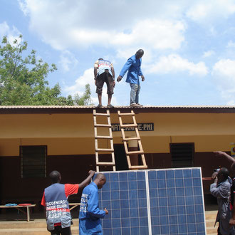 Stand alone solar system for a Maternité in Togo