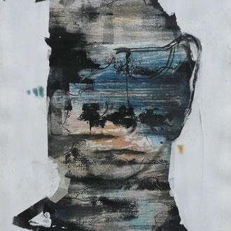 """Annelies Wagner, """"unvollendet 2"""" Absprengtechnik, 50 x 70 cm"""