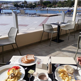 Frühstück, Hotel Eden Roc, Rhodos