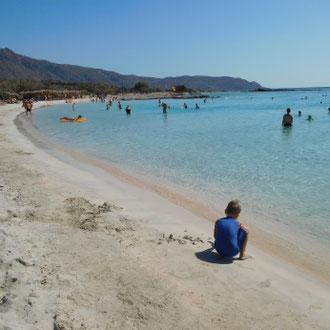 Sandstrand, Elafonissi, Kreta