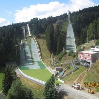 Sprungschanzen, Oberwiesenthal, Erzgebirge, Sachsen