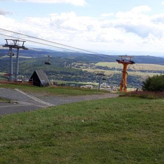 Fichtelbergseilbahn vom Fichtelberg, Oberwiesenthal, Erzgebirge, Sachsen