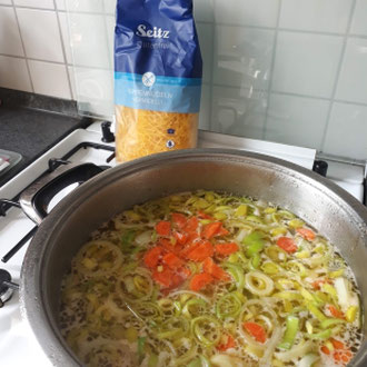 Rezept glutenfreie Nudelsuppe