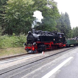 Dampflock, Fichtelbergbahn, Erzgebirge Sachsen