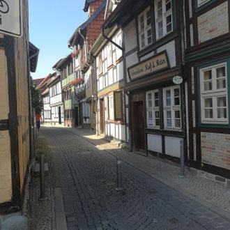 Seitengasse Zentrum, Wernigerode, Harz, Sachsen- Anhalt