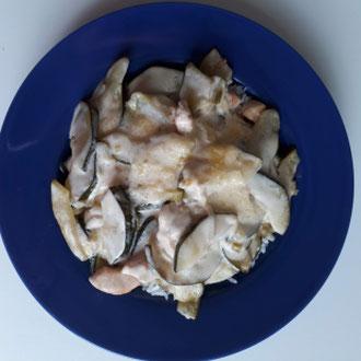 Zucchini Hähnchen Auflauf (glutenfrei)