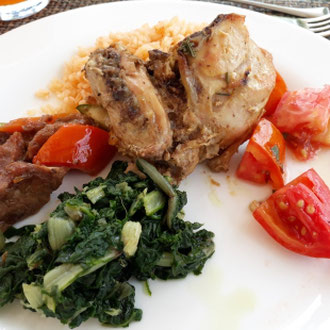 Abendessen, glutenfrei, Hotel Bahari Beach, Nordküste, Kenia, Afrika