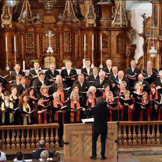 Silcherchor & Cantemus Frauenstimmen Ehingen, Steinhausen & Ehingen Juli 2015 (Bild: Renate Emmenlauer SWP-Ehingen)