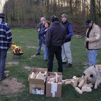 Abends wurde es wieder kühler und wir brauchten wieder das Lagerfeuer.