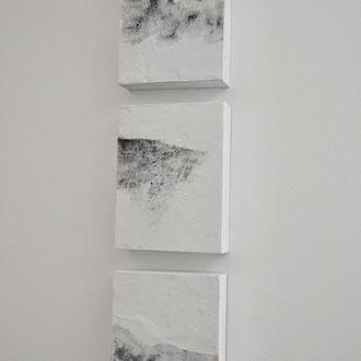 Kleine weiße Serie | 18x24 cm | Mischtechnik auf Holzboard | Iris Lehnhardt 2017