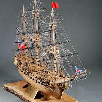 30-38 ベローナ  H.M.S.BELLONA 1760 イギリス 1/100 コーレル社  渡辺 高一 Koichi Watanabe