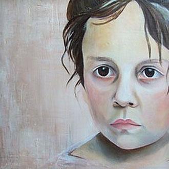 SOPHIA                                                      Acryl, Pastel und Strukturpaste auf Leinwand    50x70