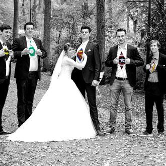 Der Bräutigam und seine Verstärkung