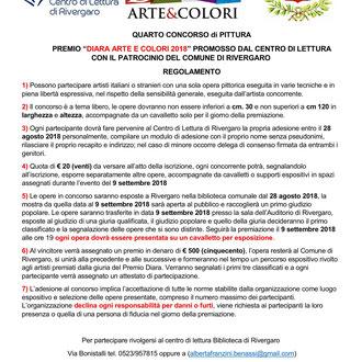 Regolamento IV concorso di Pittura PREMIO DIARA 2018