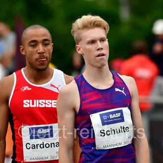 Aaron Cardona; Schweiz / Marvin Schulte; SC DHfK Leipzig