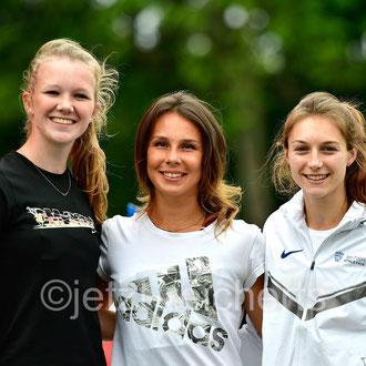 Kira Wittmann; SV Quitt Ankum / Leonie Neumann; LG Filder / Emily Gargan; Großbritannien