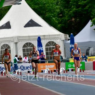 Nina Braun; LG Olympia Dortmund / Lisa Nippgen; LAZ Ludwigsburg / Chantal Butzek; LC Paderborn / Sina Mayer; LAZ Zweibrücken / Jessica-Bianca; MTG Mannheim