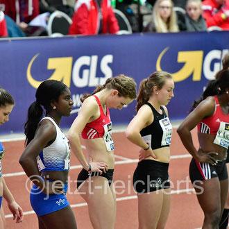 Keshia Kwadwo; TV Wattenscheid 01 / Janina Kölsch; LC Paderborn / Jennifer Zuban; Sprintteam Wetzlar