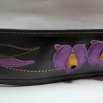 黒地に紫の胡蝶蘭入り  7㎝  10.000+消費税+送料