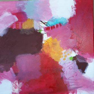 Pigmente, Acryl auf Leinwand 80x80