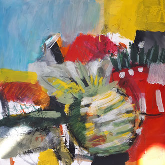 Pigmente, Acryl auf Leinwand 40x40