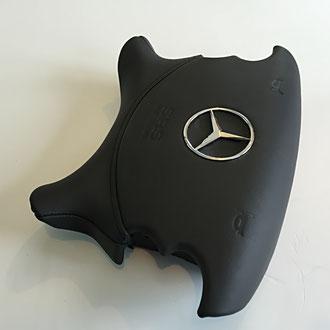 AirBag volant AMG en cuir nappa lisse noir, surpiqure noire, marquage à chaud sur mesure