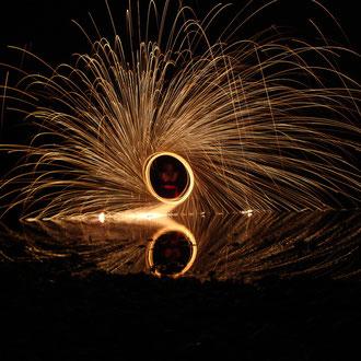Feuershow Esslingen am Neckar bei Stuttgart