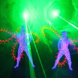 Lasershow im Großraum Traunreut - Fantômes de Flammes