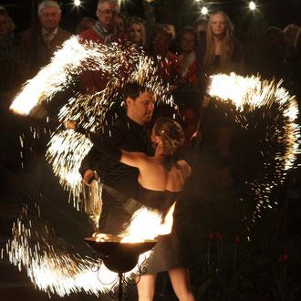 Feuershow Kitzingen bei Würzburg