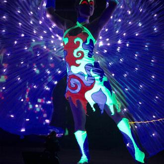 Lasershow in München - Fantômes de Flammes