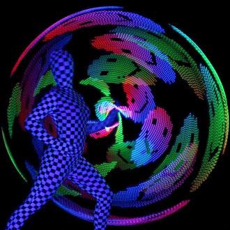 Lasershow in Singen (Hohentwiel) - Fantômes de Flammes