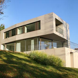 Einfamilienhaus Metallfassade