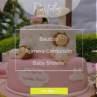 Pasteles de Fondant de Bautizo | Baby Shower | Primera Comunión