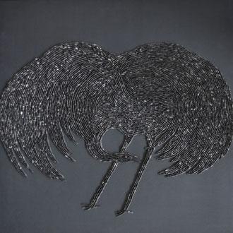 Komm großer schwarzer Vogel 1/60x60 cm/nach einem gleichnamigen Lied von Ludwig Hirsch