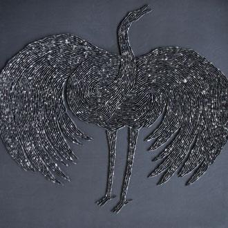 Komm großer schwarzer Vogel 2/60x60 cm/nach einem gleichnamigen Lied von Ludwig Hirsch