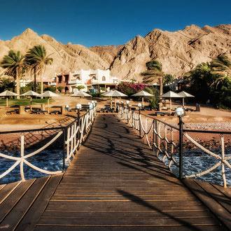 Badesteg ins Meer Dahab Sinai