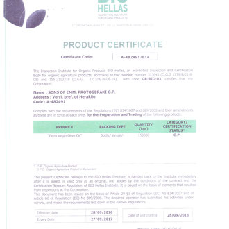 Certificat BIO
