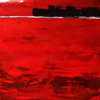 rotes abstraktes Bild