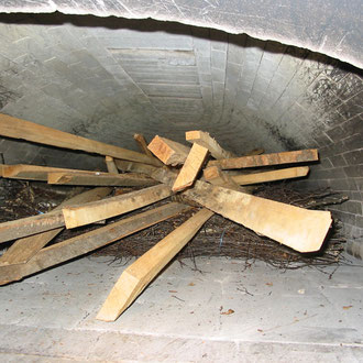 Holz im Ofen