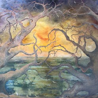 "<span id=""titcol"">Trees in Love <span/><span id=""bezcol"">Mischtechnik</br>120 x 100 cm<span/>"