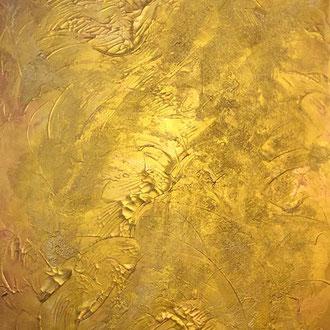 "<span id=""titcol"">Gold <span/><span id=""bezcol"">Mischtechnik Marmormehl Gold</br>80 x 100 cm<span/>"