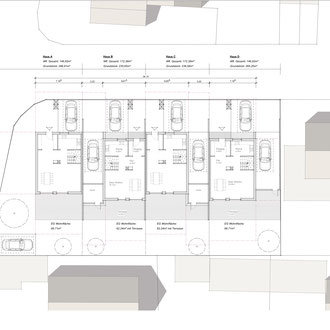 Reihenhäuser Dachau Ost - Plan