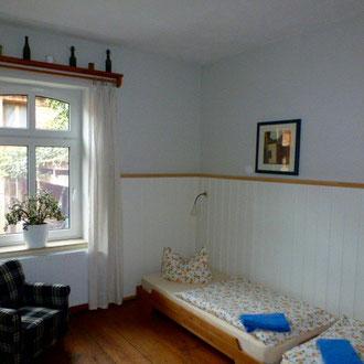 Schlafzimmer im Landhaus Lenzener Elbtalaue