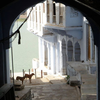 Pushkar Ghats Indien Reise Rajasthan