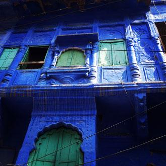 Die blaue Stadt Jodhpur in Rajasthan